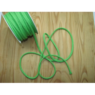 Šnúra bavlna odevná,Ø 5,3mm, zelená