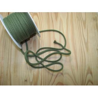 Šnúra bavlna odevná,Ø 5,3mm,khaki