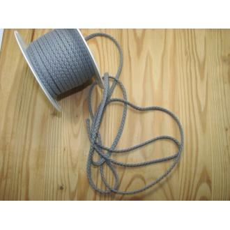 Šnúra bavlna odevná,Ø 5,3mm,šedá