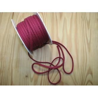 Šnúra bavlna odevná,Ø 5,3mm,bordová