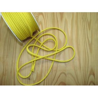 Šnúra bavlna odevná,Ø 5,3mm,žltá