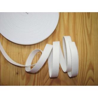 Ramienková guma š.16mm,biela