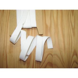 Ramienková guma š.20mm,biela