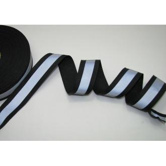 Reflexná páska 3cm čierna