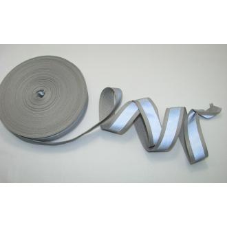 Reflexná páska 2,4cm šedá