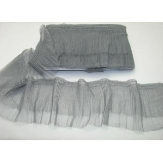 Volán tylový dvojradový šedý