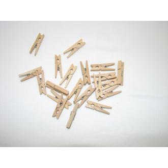 Štipec drevo farebný aranžérsky