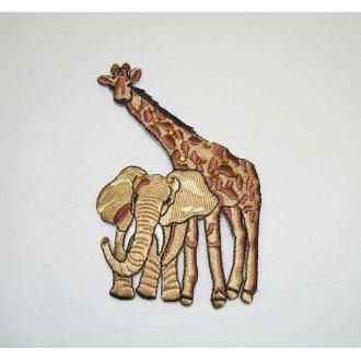 Nažehlovačka - žirafa slon