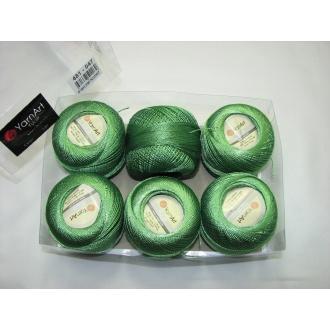 Kordonet lesklý TULIP 50g - 481 zelená