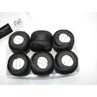 Kordonet lesklý TULIP 50g - 400 čierna