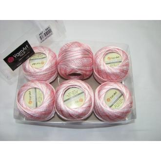 Kordonet lesklý TULIP 50g - 457 melír ružový