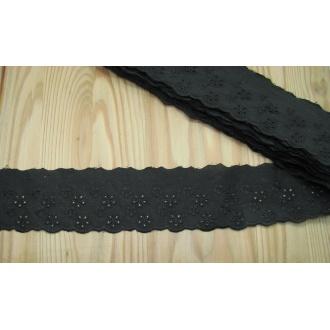Madeira vyšívaná 5,5cm - čierna
