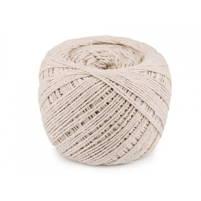 Macrame bavlna 500g - béžová