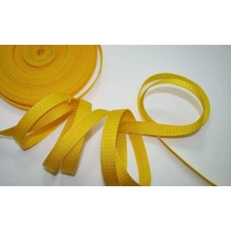 Popruh biely 1,5cm,žltý
