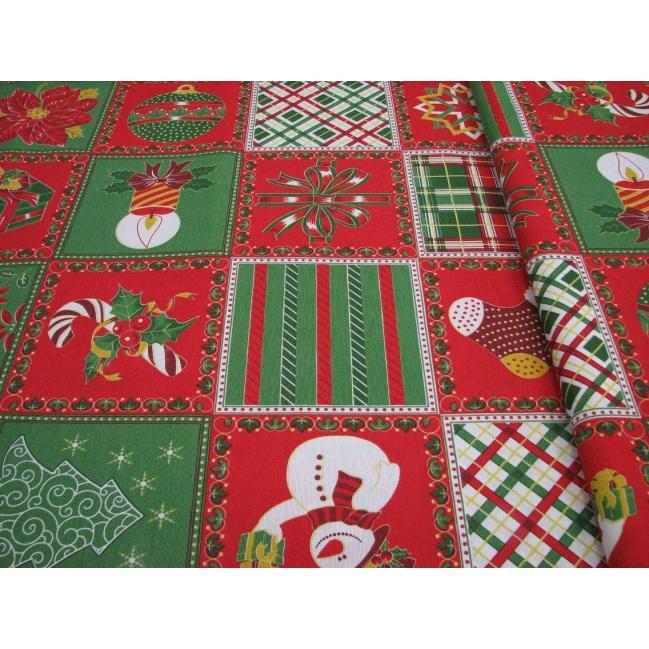 Vianočná Bavlna š.142cm dekoračná