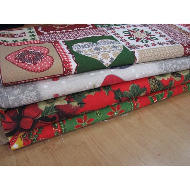Vianočná Bavlna  š.142cm,dekoračná bavlna
