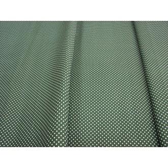Bodka tm.zelený podklad biela bodka