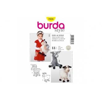 Strih Burda hračka oslík a ovečka7038