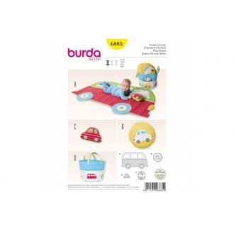 Strih Burda varianty 6885