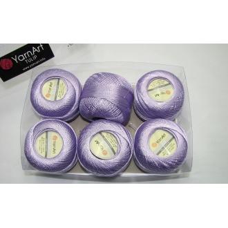 Kordonet lesklý TULIP 50g - 413 fialová