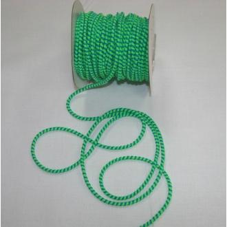 Guma guľatá 3mm, modro zelená neon