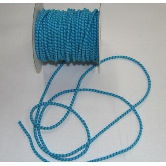 Guma guľatá 3mm, tyrkysovo modrá