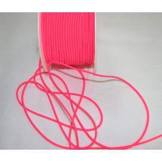Guma guľatá 4mm, neon ružová