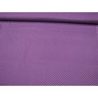 Bodka fialový podklad biela bodka