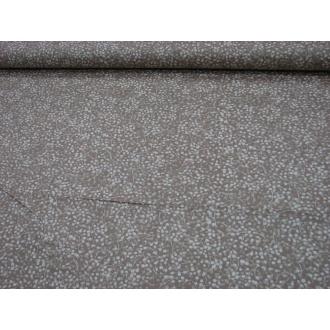 Béžový podklad biele halúzky š.140cm