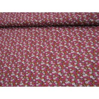 Ružový mix kvetov š.150cm