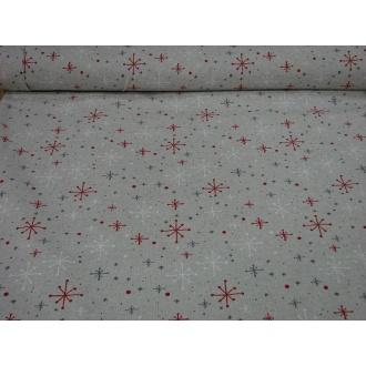 Vianočná Bavlna š.140cm dekoračná
