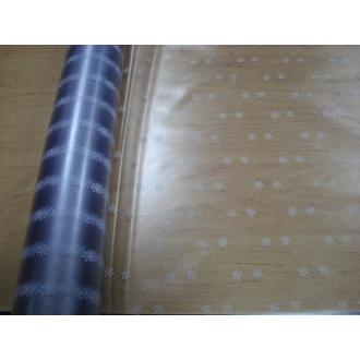 PVC Nepodlepený Obrus metráž - 1m- priehľadný