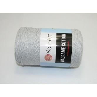 YarnArt Macrame cotton 250g - 756 šedá svetlá