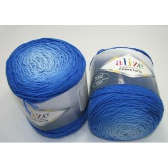 Superlana midi ombre batik 300g -7271 modrá