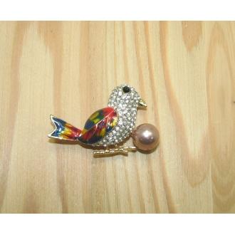 Brošňa vtáčik - 1ks