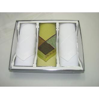 Pánske darčekové žakarové vreckovky