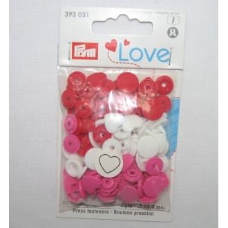 Patentky plastové PRYM LOVE color snaps