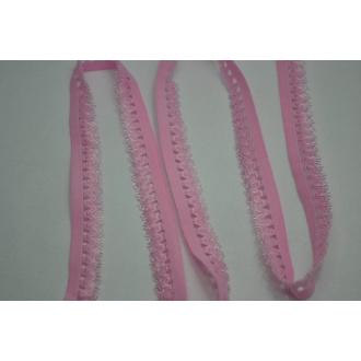 Ozdobná guma ružová pudrová
