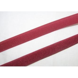 Suchý zips 16mm - (bordový)