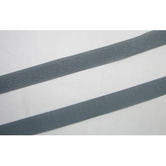 Suchý zips 20mm - (tmavo šedý)