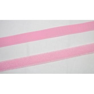 Suchý zips 20mm - (ružový)