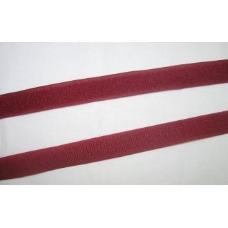 Suchý zips 20mm - (bordový)