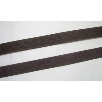 Suchý zips 20mm - (tmavo hnedá)