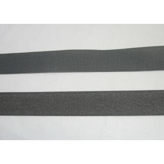 Suchý zips 30mm - (tmavo šedý)