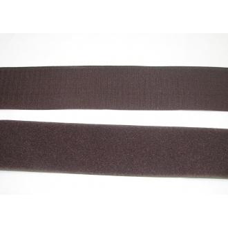 Suchý zips 50mm - (tmavo hnedá)