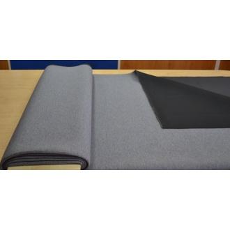 Kabátová látka PIANKA šedo-fialová