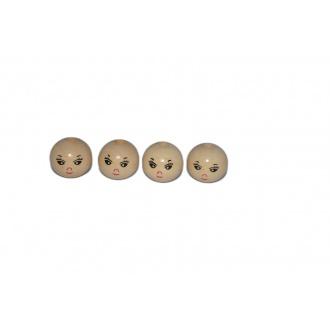 Drevené korálky s tváričkou ø 22mm