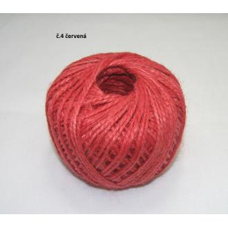 Jutový špagát ø2 mm - červená