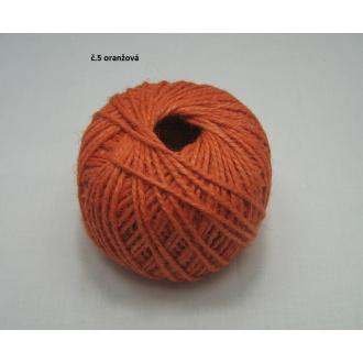 Jutový špagát ø2 mm- oranžová
