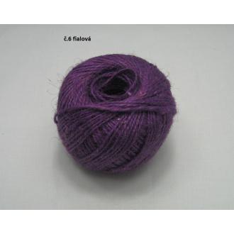 Jutový špagát ø2 mm- fialová